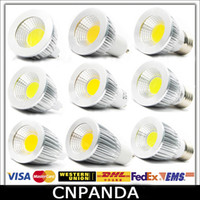 Wholesale Super Bright COB GU10 Led W W W Bulb Lights Dimmable E27 E26 MR16 Led Spot Light Lamp V V CE RoHS UL