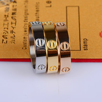 Wholesale Min order Titanium steel rose gold ring silver lover ring screwdriver wedding jewelry birthday present