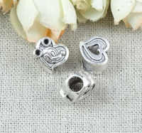 Wholesale Ancient silver retro love type Mickey Mouse DIY european charm beads materials ZAKKA bulk european beads alloy beads