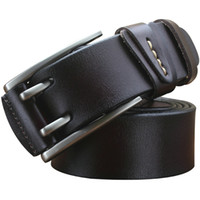 Wholesale Man Genuine Leather belt Cowskin Belts for men Alloy Pin buckle color Brand designer Cinturon M219 Cintos New arrival