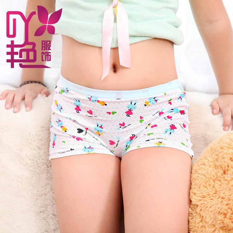 4413 Girls Modal Boxer Briefs Underwear Student Printing Cotton ...