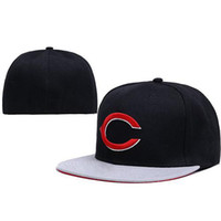 Wholesale Reds Size Caps Brand Team Fitted Hats Black Baseball Team Caps High Quality Sports Caps Men s Hats Cheap Brand Fitted Caps Fashion Hats