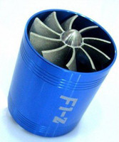 Cheap 10pcs lot DUAL Supercharger Turbonator Turbo Cold Air Intake Gas Fuel Saver Fan Blue