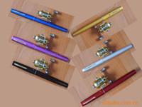 Cheap Whole Sale 100sets lot 1M pen fishing rod pen fishing w Mini Fishing Reels Fishing rod set Free Shipment