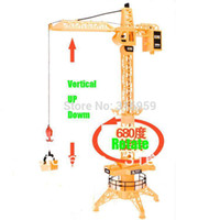 Wholesale Larger Engineering Crane Remote Control Channel Simulation Tower Crane degree Rotate Crane toys