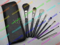 Wholesale hot sale Professional Brush Pieces set leather Pouch