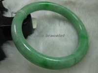 Wholesale Details about NATURE BEAUTIFUL GREEN JADE JADEITE BRACELET BANGLE MM NO A090