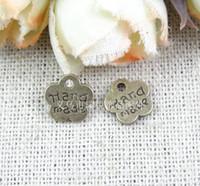 al por mayor flor de metal para la fabricación de joyas-8*8.5*1MM Retro pequeña placa de BRICOLAJE ZAKKA flor de metal de la joyería etiquetas elaboración de artesanías artesanías hechas a mano encanto, hechos a mano de la palabra encanto