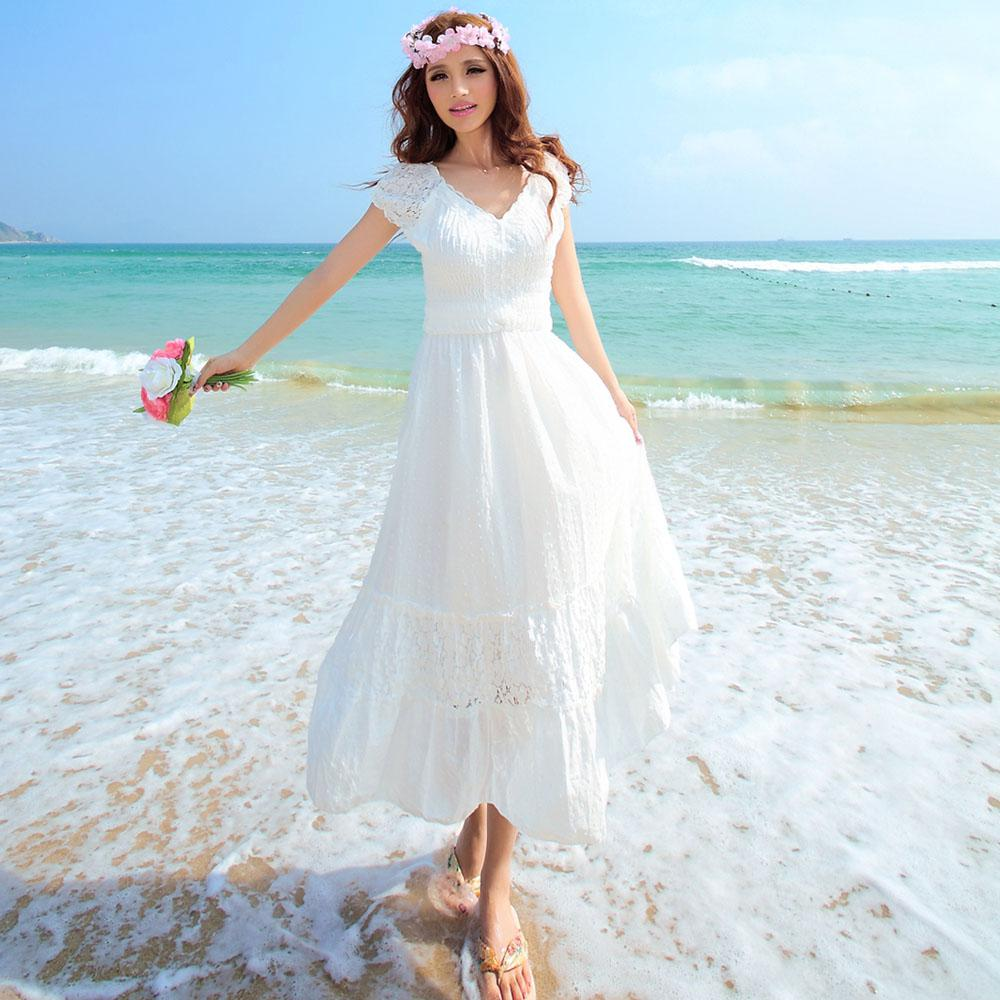 White Cotton Beach Dresses