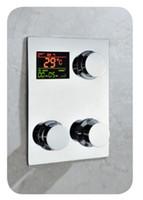 Wholesale Digital thermostat shower mixer control Temperature sensitive Square Shower Faucet Control Valve shower valve water powered www
