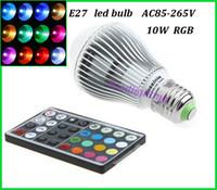 Wholesale W RGB led bulb AC85 V Epistar chip high power RGB led light lighting E27 RGB led spot color change