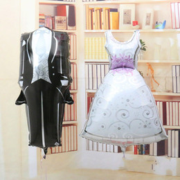 Wholesale 2015 New the bride and groom dress aluminum foil balloon Foil Helium Balloon for wedding Party decorations supplies inch