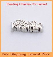 Cheap Wholesle-Free shipping top sale silver Grand Daughter floating charms for living glass memory glass lockets FC155