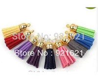 Wholesale Wholesle mm cs Handmade Leather Tassel Charms Cell Mobile Phone Straps Accessories D0287