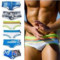 Cheap Colours Mens Swimwear Fashion Sexy Swiming Trunks, Beach Boxer Brief Slim Swimwear High quality
