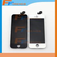 Pour iPhone 5 écran LCD écran tactile numériseur assemblage complet avec écouteur anti-poussière Mesh libre installé noir blanc Livraison gratuite DHL