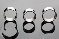 Cheap 3pcs Male delay penis rings cock rings 3 different size stainless steel chastity bdsm sex toys stainless steel ring metallic taste delay