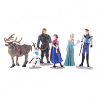 Wholesale Frozen Figure Play Set Anna Elsa Hans Kristoff Sven Olaf set classic toys