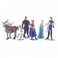 Wholesale Frozen Figure Play Set Anna Elsa Hans Kristoff Sven Olaf set classic toys