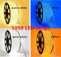Wholesale 2014 Hot Selling SMD RGB LED Strip led m Waterproof LED Strips Light V Epister Flexible Light Lamp