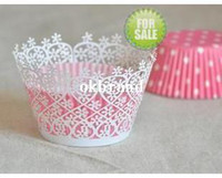 Wholesale 15 colors Cupcake wrapper small pink flower wedding birthday decoration cupcake paper box