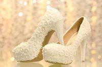 Cheap Hot Sale High Heel White Lace Appliqued Wedding Shoes Cheap New Fashion Bridal Wedding Shoes L288