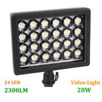 Wholesale WANSEN W24 New LED Video Light Lamp W LM Dimmable for Canon Nikon Pentax DSLR Camera Video Camcorder