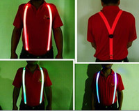 Wholesale LED Glow Suspender for Man Outdoor Sport Safety Protector LED Light Straps cm Length by world factory