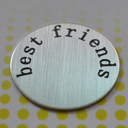 Wholesale 10pcs Large best friends Stainless Steel Living Locket Plate fit mm floating lockets designs for your choice