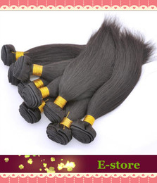 In stock, Filipino straight Real human hair 1# Jet Black mixed length 3 pcs per lot human hair extension,M