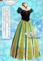 Cheap AA2 EMS Beautiful Cartoon Anna Frozen dress woman party dresses green gallus sexy dressy cosplay theme costume