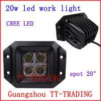 Wholesale 3 w cree led work lights off road vehicle driving light Truck Trailer car spot lights Heavy Duty DC V V