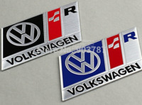 Wholesale 10pcs D aluminum R R volkswagen stickers emblem decal alloy car badge VW blue black