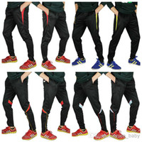 bench pants - Professional Football Pants Legs Soccer Training Pants Male Football Pants Legs Sports Trousers Colors Training Suit Champions League Bench