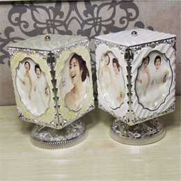 Wholesale Rotating Photo Picture Frame Rotating Wedding Dress Photo Home Decoration Frame Family Resin Music Photo Frame Photo