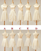 Cheap 2014 Cheap In Stock 2.4.6.8 A Line chiffon Short Mini Bridesmaid Dresses with Lace Summer Dress for Wedding Under 50 Prom Cocktail Dress