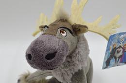 Descuento regalos para los amigos Regalo 20CM reno congelado Sven 7.8 '' juguetes de peluche muñeca de niños rellenos amigo Kristoff Sven Animal Toy