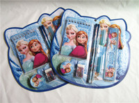 Wholesale Frozen pencil pen notebook stationery set ruler eraser sets of stationery school set for children kids students christmas gift new