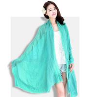 Wholesale 13 Colors Signature Cotton Scarf Sequins Scarves Soft Cotton Nickerchief CM X CM Inch X Inch