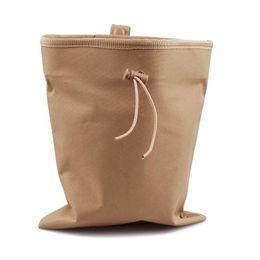 Wholesale Military Molle Belt Tactical Magazine Dump Drop Utility Pouch Bag W Mesh Large Coyote Tan OT0014
