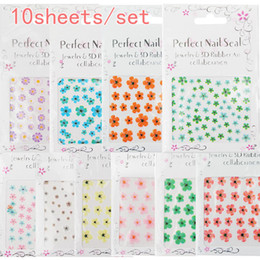 Wholesale ebay selling dried flower D simulation models nail decals sets the price for the price
