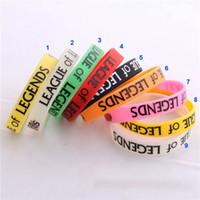 Wholesale Bracelet LOL League of Legend figure Wristband Silicone Luminous Printed Band LOL016