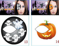 Wholesale Halloween Pumpkin Stickers Festival Art Party Eye Shadow Makeup Stickers Face Body Temporary Tattoos Eye Shadow Stickers M1646