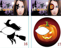Wholesale 500pcs Halloween Pumpkin Stickers Festival Art Party Eye Shadow Makeup Stickers Face Body Temporary Tattoos Eye Shadow Stickers M1646