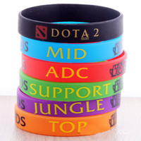Jelly, Glow printed silicone bracelet - Dota2 Dota Bracelets League of Legend TOP MID ADC Support Jungle Dota Silicone Bracelet Printed Band LOL051