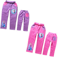 Wholesale 9 off IN STOCKfree gift trousers Frozen princess cotton fleece pants casual pants Kids Clothing DROP SHIPPING hot sale TM