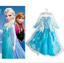 Wholesale Frozen Princesa Party Elsa reina del vestido de lujo del traje de Cosplay Girls ropa Y