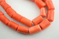 Wholesale Big size Orange Color Chunk Coral Tube Loose Beads fit DIY Fashion Jewelry making