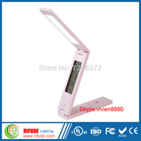 Wholesale Fast touch sensor with clock and calendar time temperature wall mounted foldable LED table lamp light