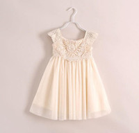 beige ball gown - New Children Embroidered Dress Lace Dresses Summer Princess Dress Fashion Girls Cute Dresses Girl Clothes Kids Clothing